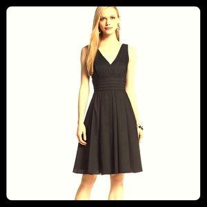WHBM Black Cotton Upscale Sundress - lined!